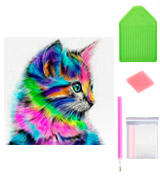 AIRDEA Cute Cat DIY 5D Diamond Painting Kit