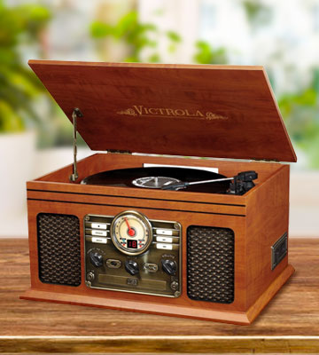 Review Of Victrola VTA 200B MH 6 In 1, Turntable With Bluetooth