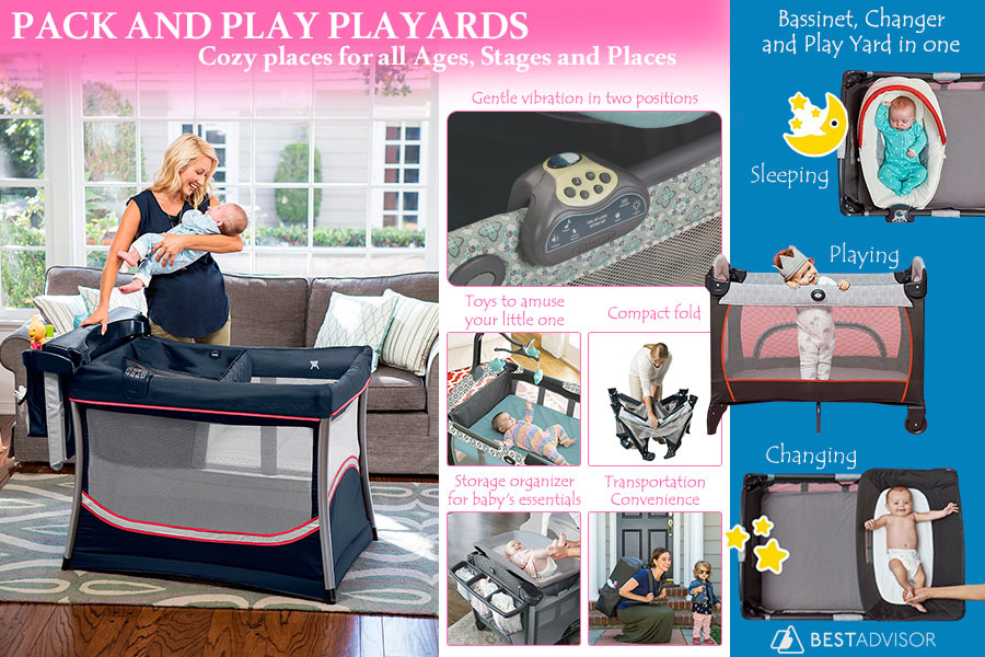 Comparison of Pack and Play Playards for Your Little One