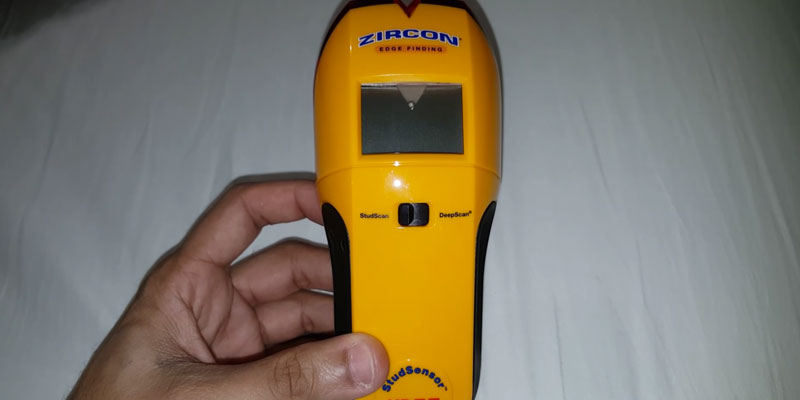 Zircon e50 Edge Finding Stud Finder with Live AC WireWarning Detection in the use