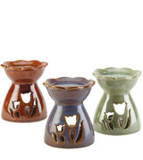 Gifts & Decor Porcelain Tulip Oil Warmer Set
