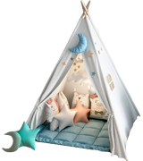 wilwolfer Foldable Teepee Tent for Kids
