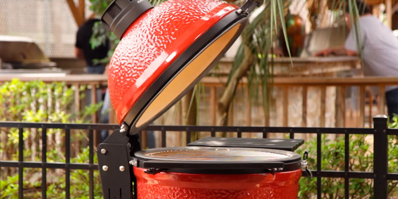 KamadoJoe KJ23RHC Classic II 18″ Ceramic Kamado Charcoal Grill in the use