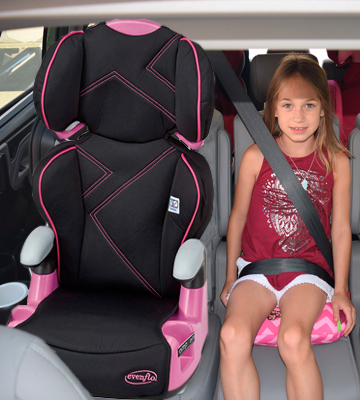 Review of Evenflo AMP High Back Car Seat Booster