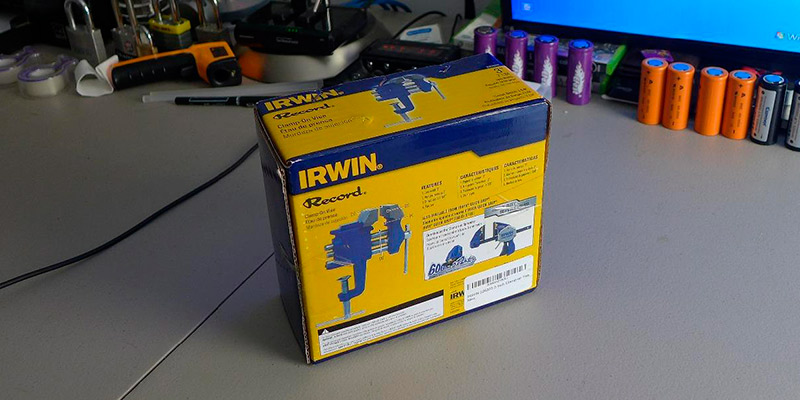 IRWIN 226303ZR Clamp-On Bench Vise in the use