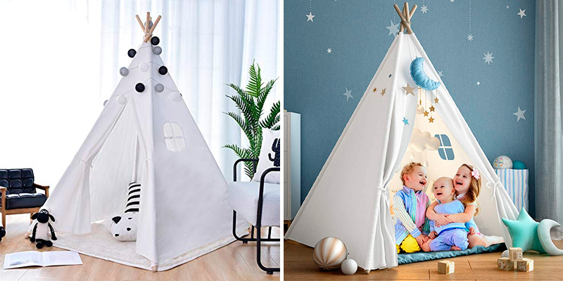 Review of wilwolfer Foldable Teepee Tent for Kids