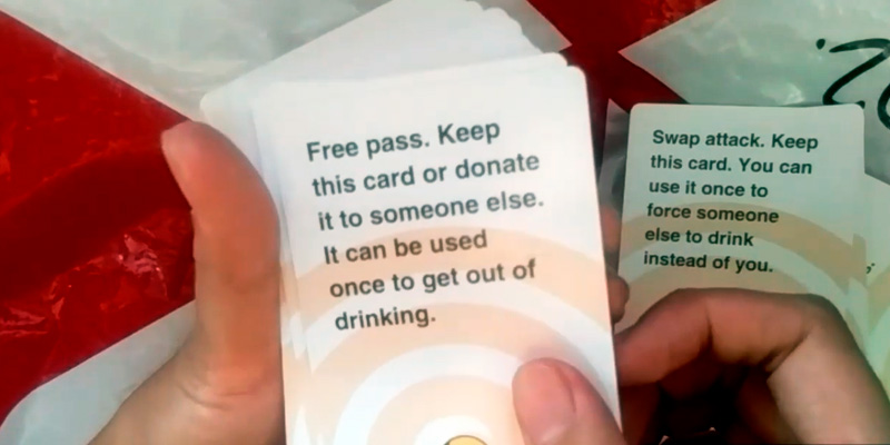 These Cards Will Get You Drunk Drinking Game Fun Adult Game for Parties in the use