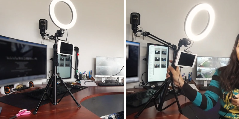 "Review of UBeesize 8"" Selfie Ring Light with Tripod Stand & Cell Phone Holder"