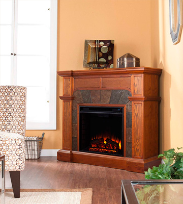 Review of Southern Enterprises FA9285E Electric Fireplace with TV Stand