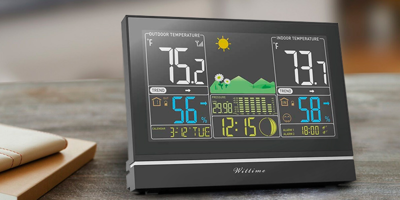Wittime 2076 Wireless Weather Forecast in the use