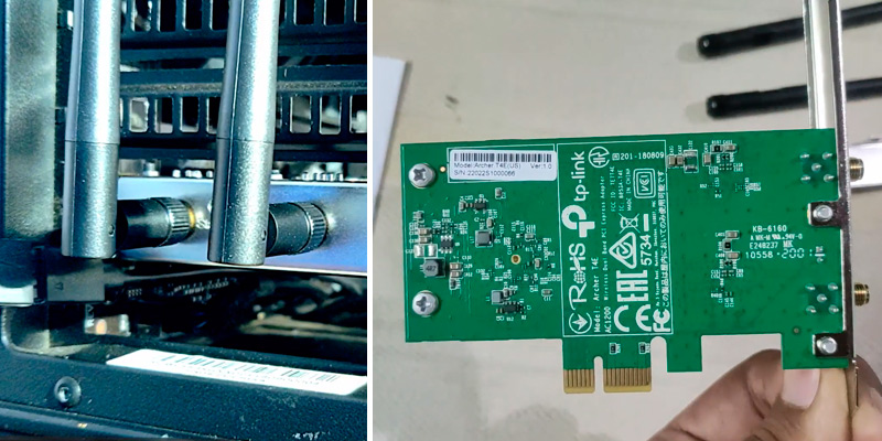 TP-LINK Archer T4E AC1200 WiFi PCIe Card in the use