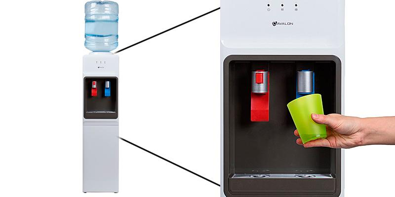 Avalon Hot/Cold Water Cooler Dispenser in the use