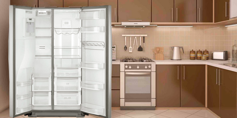 Kenmore Elite 51773 28 cu. ft. Side-by-Side Refrigerator with Accela Ice Technology in the use
