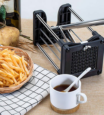 Review of Reliatronic Heavy Duty French Fry Cutter with Extended Handle