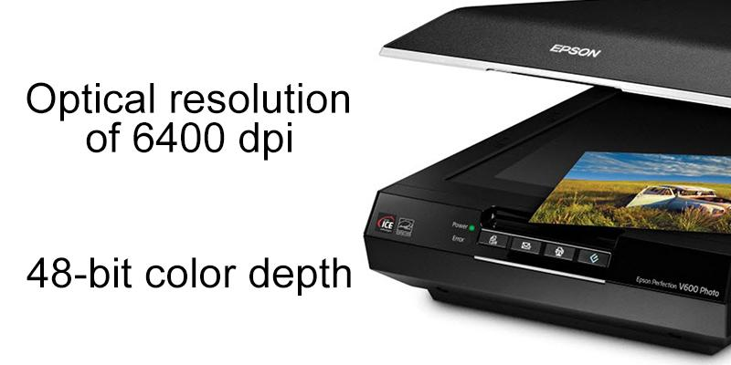 Epson Perfection V600 Flatbed Scanner in the use