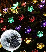Qedertek Solar Flower Garden Lights for Outdoor