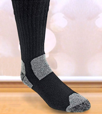 Review of Working Person's 8766 4-Pack Steel Toe Crew Socks