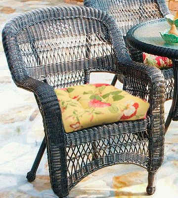 Review of Pillow Perfect 495552 Outdoor/Indoor Risa Lemonade Wicker Seat Cushion