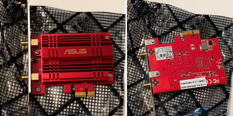 ASUS PCE-AC56 AC1300 WiFi PCIe Adapter in the use