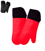 HOMWE Oven Mitt 1 Pair - Oven Mitts with Quilted Liner