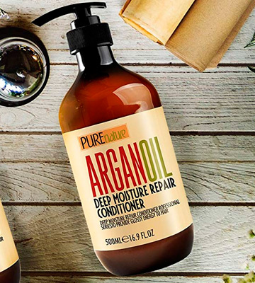 Review of Pure Nature Lux Spa Argan Oil Moroccan Argan Oil Conditioner SLS Sulfate Free Organic - Best Hair Conditioner for Damaged, Dry, Curly or Frizzy Hair