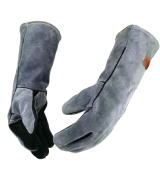 WZQH 16 Inches,932℉,Leather Forge Welding Gloves