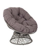 OSP Designs BF25292-GRY Papasan Chair with Poly-fill Cushion