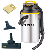 Stanley 4.5 Gallon, 4 Horsepower Wet/Dry Hanging Vacuum