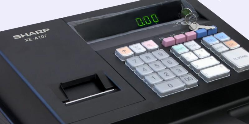 Sharp XEA107 Entry Level Cash Register in the use