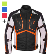 HWK Dualsport Enduro Motocross Jacket For Men Textile Motorbike