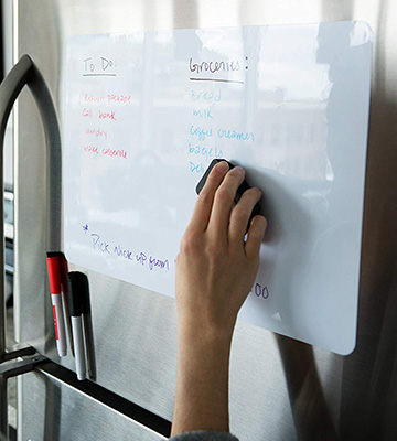 Review of Cinch! 17x11 Inch Magnetic Dry Erase Whiteboard Sheet For Kitchen Fridge