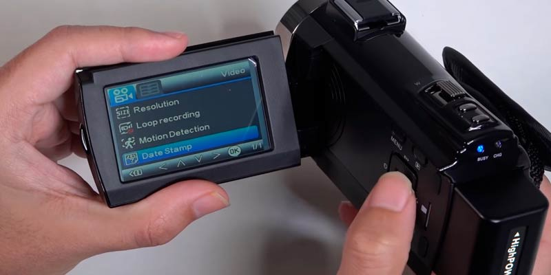 KOT 534K 4K Camcorder in the use