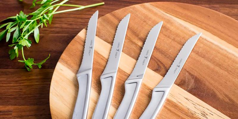 J.A. Henckels International Steak Knife Set in the use