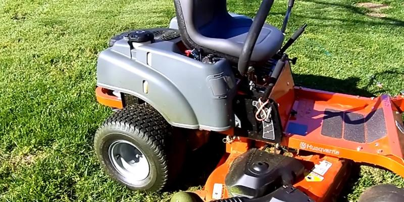 Husqvarna 967324301 Kohler V-Twin Zero Turn Mower in the use