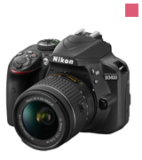 Nikon D3400 DSLR Camera w/ AF-P DX NIKKOR 18-55mm f/3.5-5.6G VR