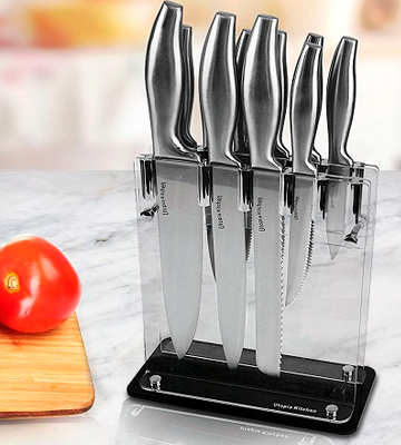 Review of Utopia Kitchen 12-Piece Knife Set with Stand