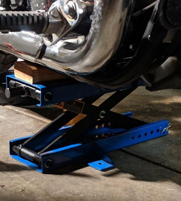 Review of LiftMaster DL3502 1100 LB Motorcycle Center Scissor Lift Jack with Safety Pin Hoist Stand Bikes ATVs