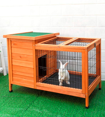 Review of Petpark Rabbit Hutch Wood Rabbit Cage Indoor for Small Animals