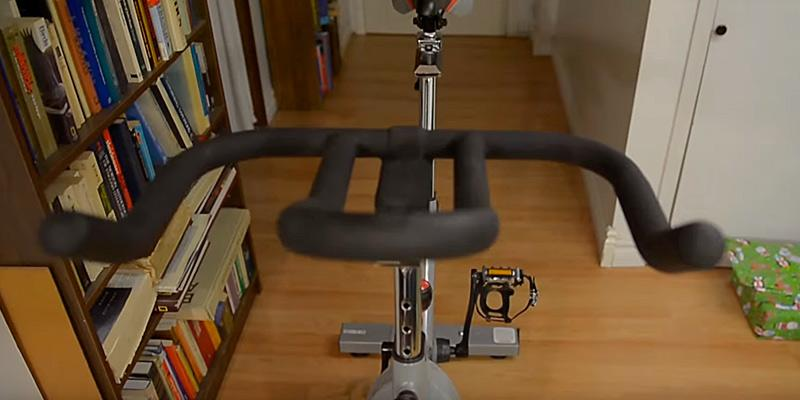 Sunny Health & Fitness Pro Indoor Cycling Bike in the use