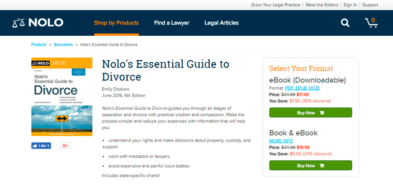 Review of NOLO Essential Guide to Divorce