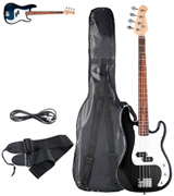 Goplus Full Size 4 String with Strap Electric Bass Guitar