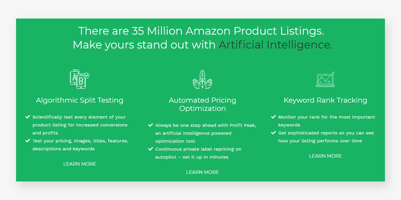 Splitly Amazon Listing Optimization Software for Private Label Sellers in the use