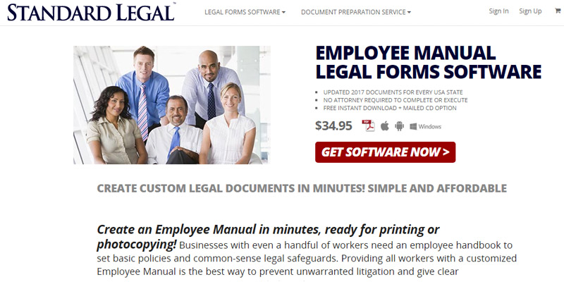 Review of Standard Legal Employee Manual Legal Forms