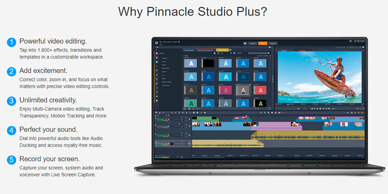 Pinnacle Studio 21 Plus Video editing and Live Screen Capture in the use