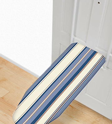 Review of HOMZ 4785050 Over-the-Door Ironing Board, Tan, Bonus 2-pack of Dryer Balls