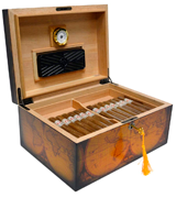 Quality Importers HUM-OLD WORLD Desktop Humidor