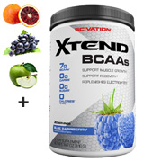 Scivation Blue Raspberry, 30 Servings BCAA Powder