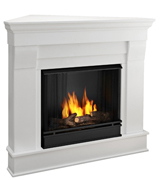Real Flame 5950-W Chateau Corner Gel Fireplace in White