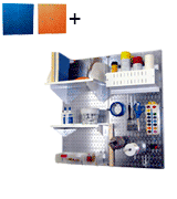 Wall Control 30-P-3232GV Galvanized Steel Pegboard