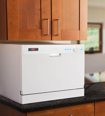 Review of EdgeStar 6 Place Settings Countertop Portable Dishwasher Silver